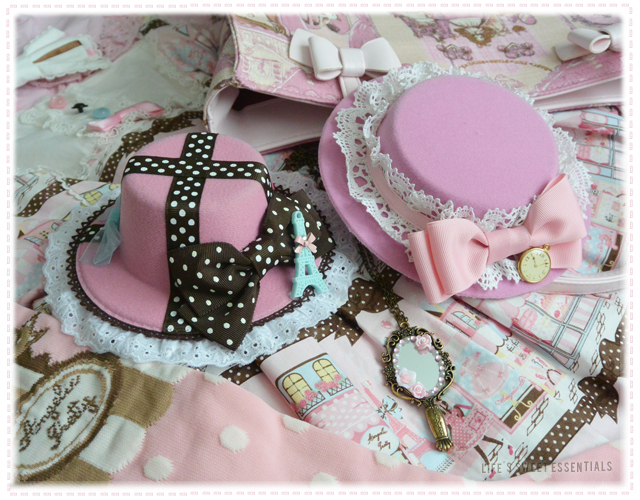 pink-sweet-lolita-mini-hats-hair-facinators